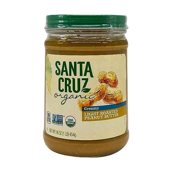 Organic Creamy Light Roasted Peanut Butter, 16 oz 1