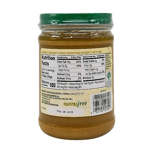 Organic Creamy Light Roasted Peanut Butter, 16 oz 5
