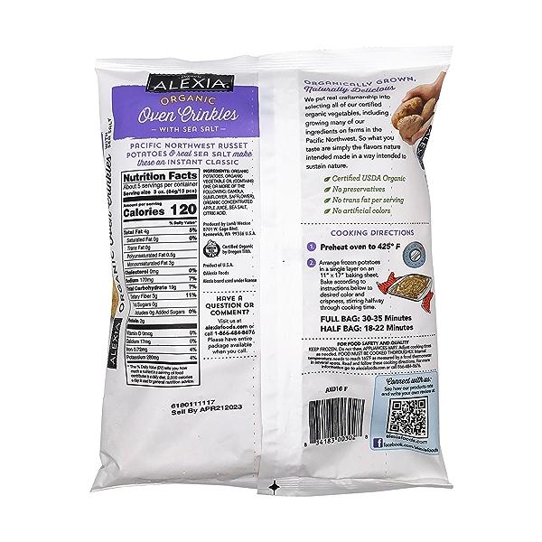 Organic Oven Crinkles With Sea Salt, 16 oz 2