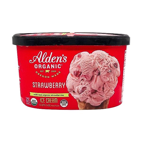 Organic Strawberry Ice Cream (1.5 Qt) 1