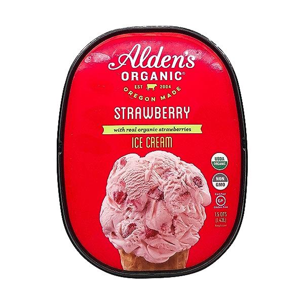 Organic Strawberry Ice Cream (1.5 Qt) 5