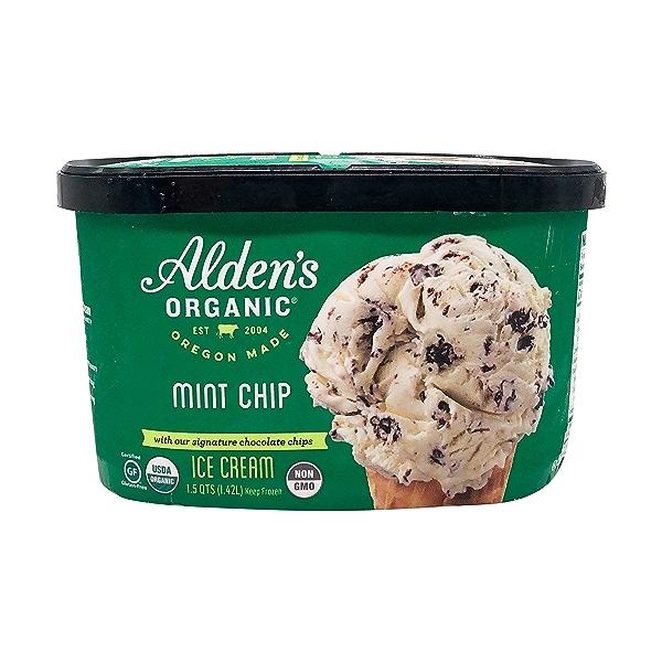Organic Mint Chip Ice Cream (1.5 Qt) 1