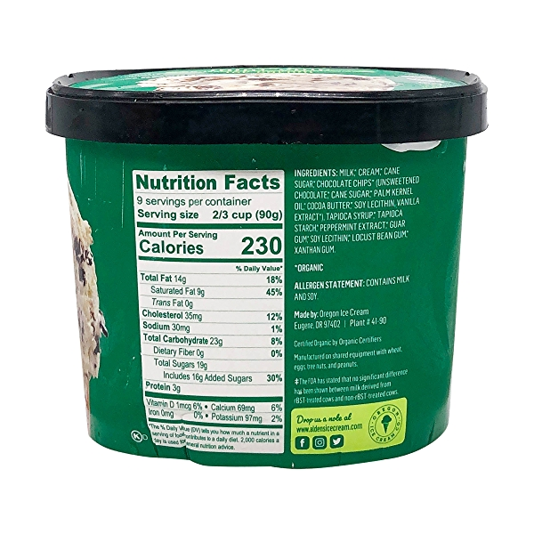Organic Mint Chip Ice Cream (1.5 Qt) 2