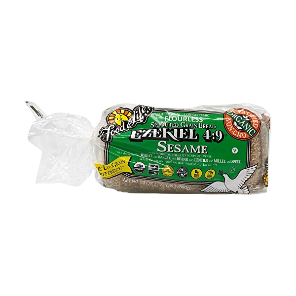 Ezekiel 4:9 Sesame Sprouted Grain Bread, 24 oz 1