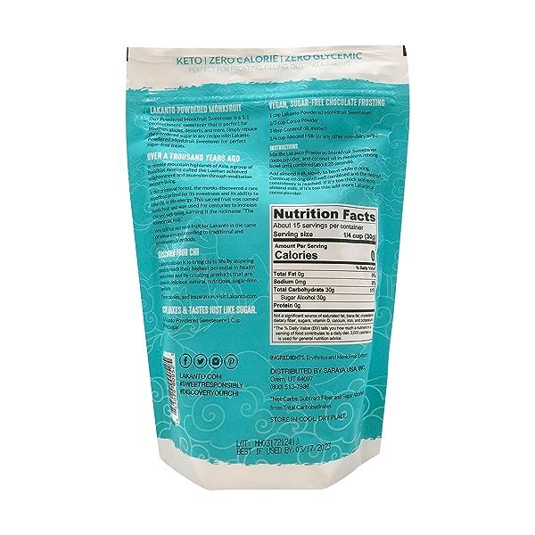 Powdered Monk Fruit Sweetener, 16 oz 3