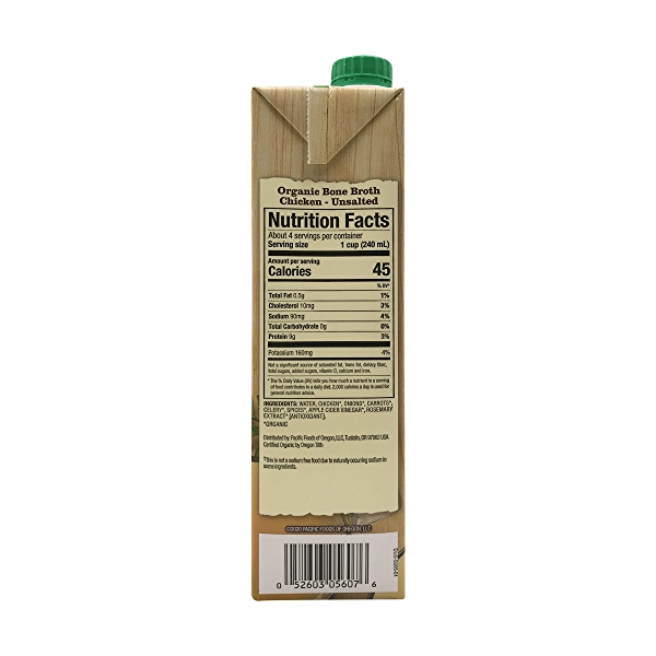 Pacific Natural Foods Organic Chicken Bone Broth, 32 fl oz 2