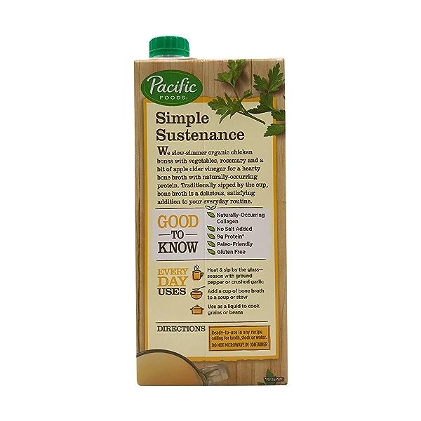 Pacific Natural Foods Organic Chicken Bone Broth, 32 fl oz 3