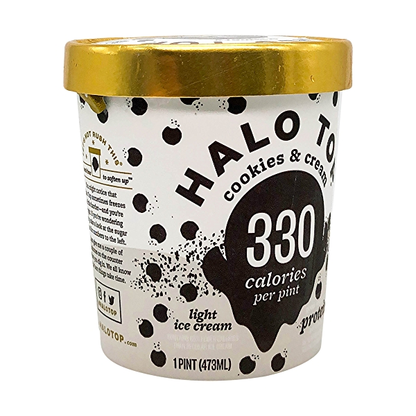 Cookies & Cream Halo Top, 1 pint 8