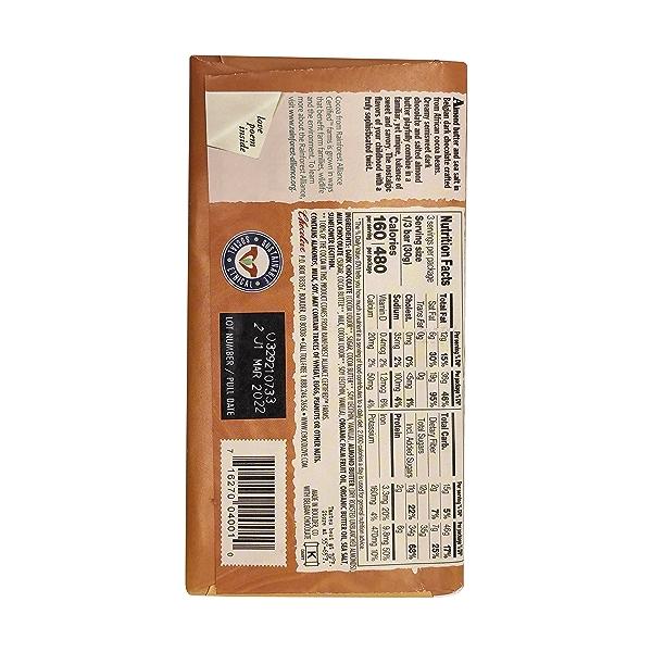 Salted Almond Butter in Dark Chocolate, 3.2 oz 2