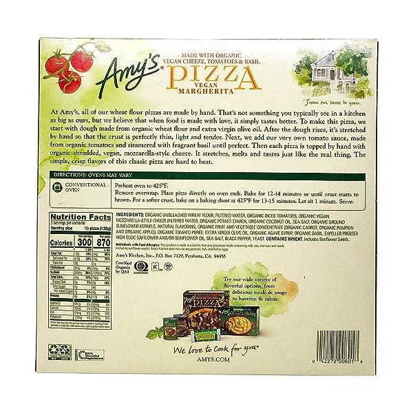 Vegan Margherita Pizza, 13.5 oz 3