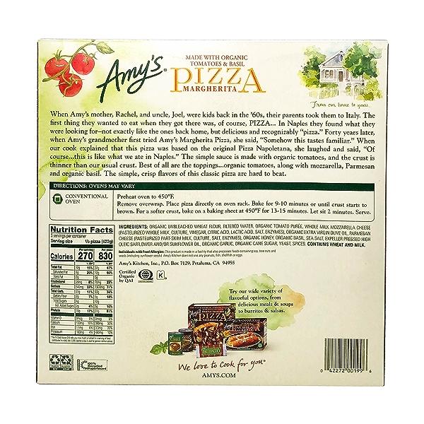 Margherita Pizza, 13 oz 3