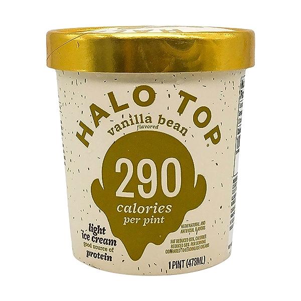 Halo Top Light Vanilla Bean Ice Cream, 1 pint 1