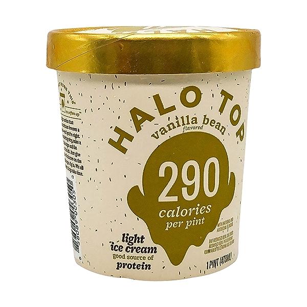 Halo Top Light Vanilla Bean Ice Cream, 1 pint 8