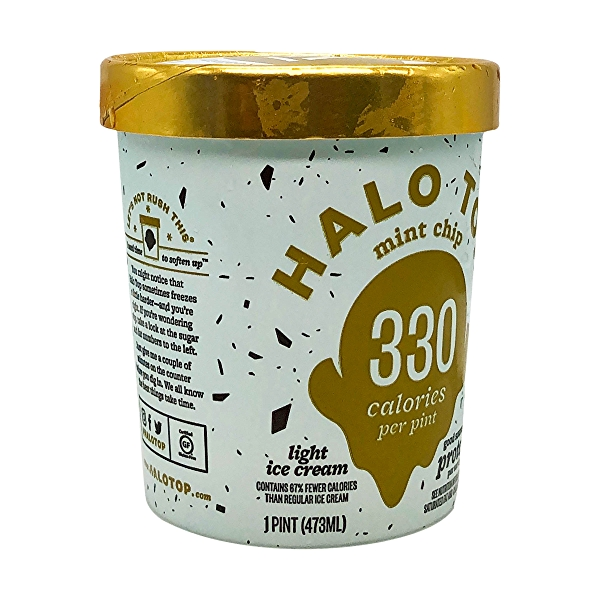 Halo Top Mint Chip Light Ice Cream, 1 pint 8