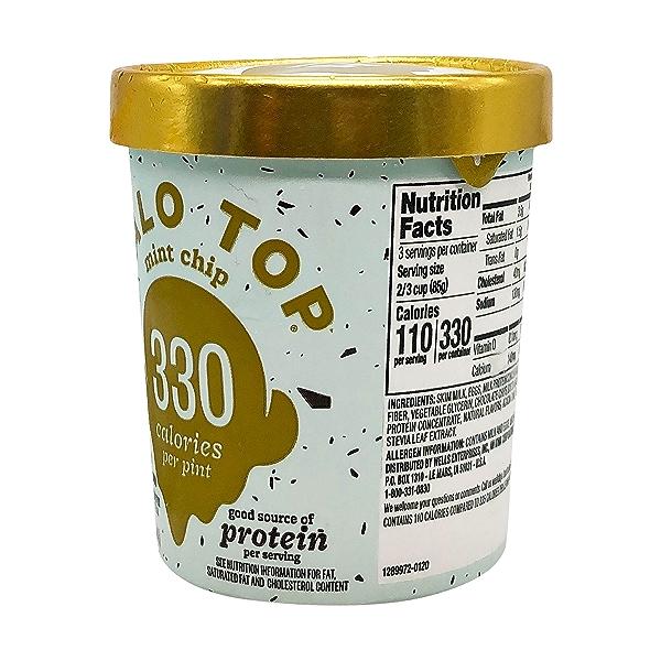 Halo Top Mint Chip Light Ice Cream, 1 pint 2