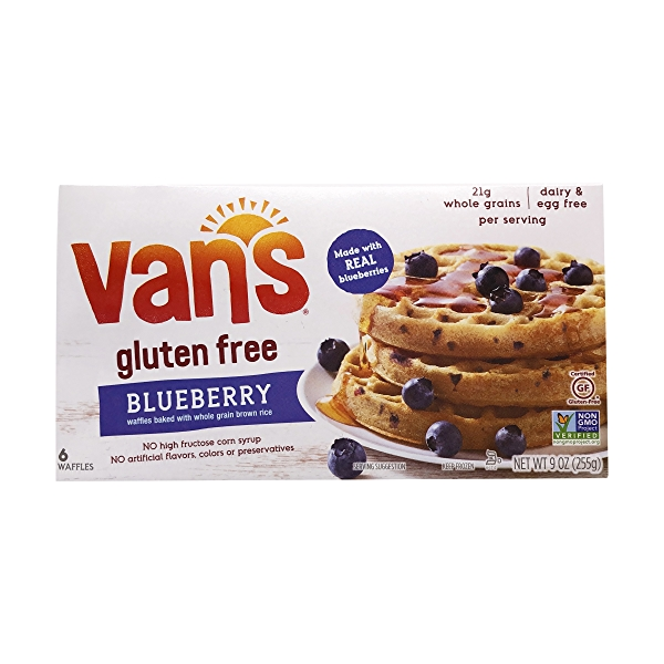 Gluten Free Blueberry Waffles, 9 oz 1