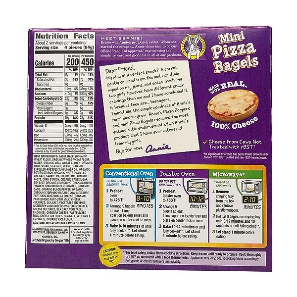 Mini Three Cheese Pizza Bagels, 6.65 oz 3