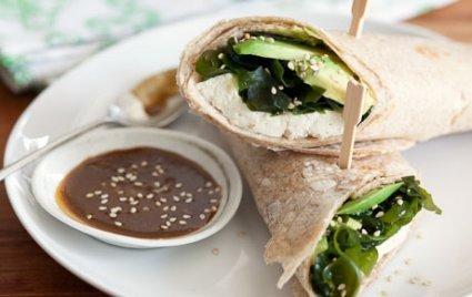 Tofu-Seaweed Wraps with Wasabi