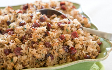 Wild Rice and Cranberry Stuffing with Walnuts
