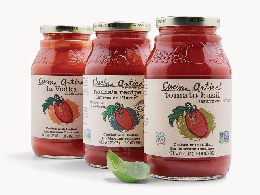 jars of pasta sauce