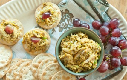 Curried Crab on Crackers