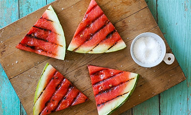 image of watermelon with olive oil