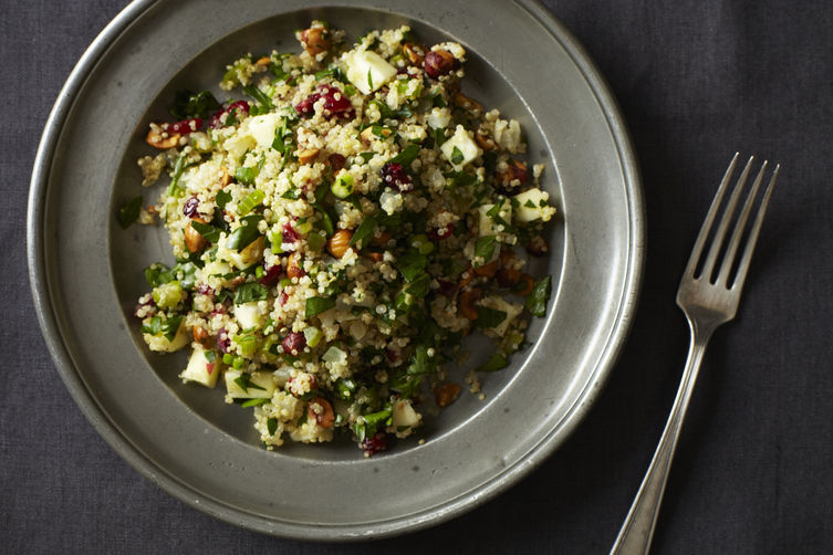 Quinoa Salad with Hazelnuts, Apple and Dried Cranberry