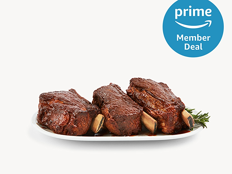 Beef Short Ribs with a prime member deal logo in the top right corner