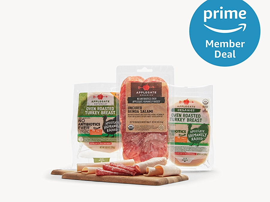 Applegate Farms Lunch Meat, prime member deal logo in the upper right corner