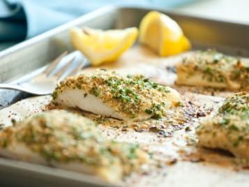 Baked Breaded Cod
