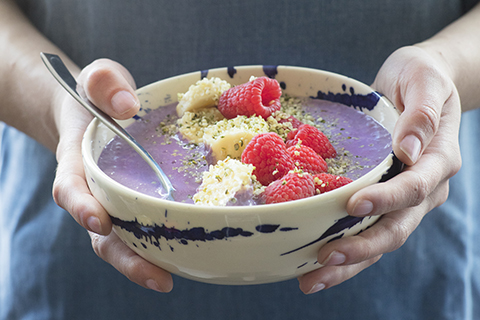 Smoothie Bowl with Hemp Seeds