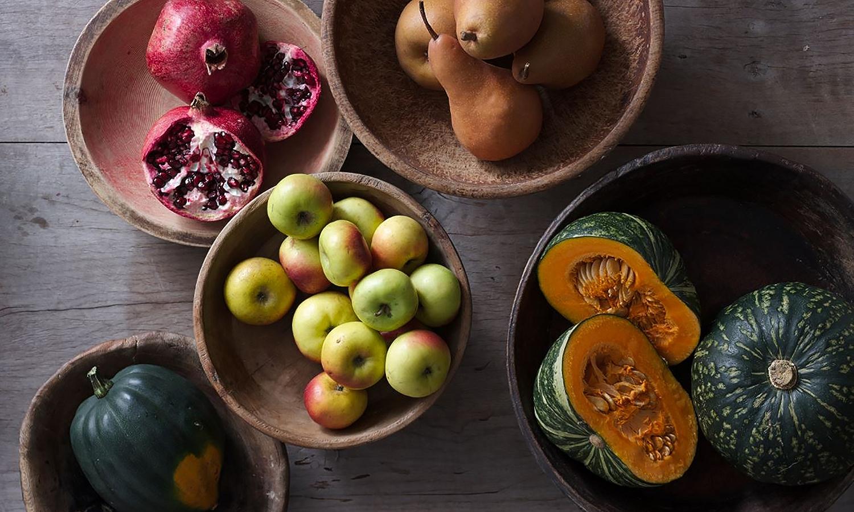 Fall produce shot overhead