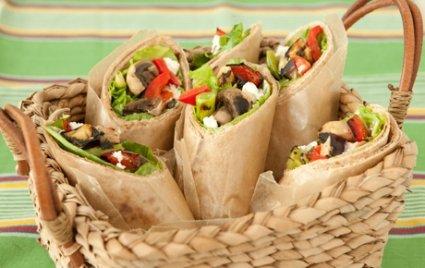 Grilled veggie vegetable wraps