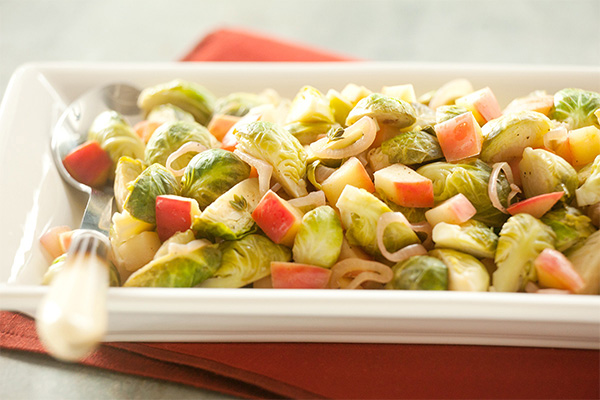 Photo of Brussels Sprouts with Apples and Shallots