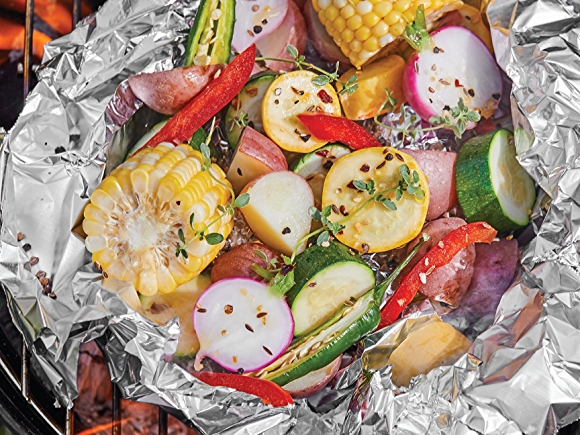 Veggies in a foil packet