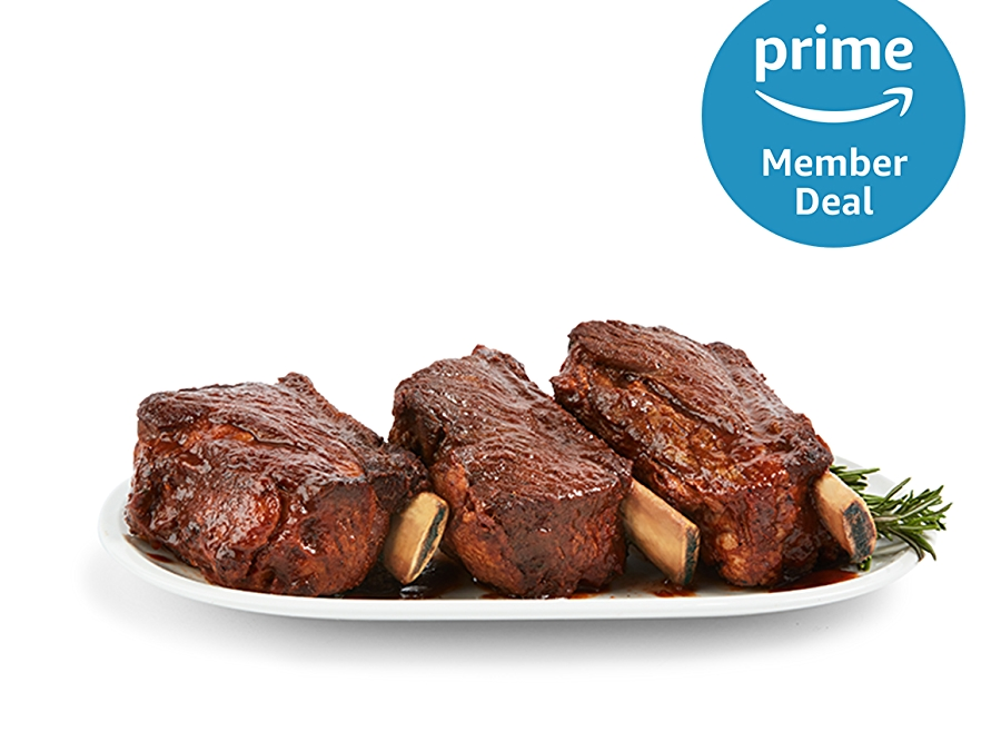Prime member deal logo, short ribs