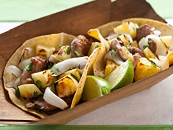 Photo: Quick and Easy Pineapple and Pork Tacos