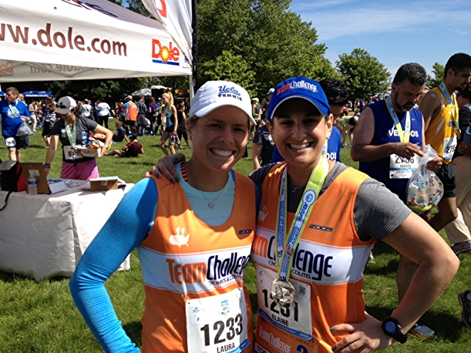 Laura Gordon (left) and her sister at a Team Challenge event