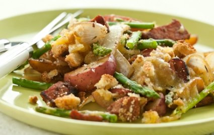 Ham and Asparagus Skillet Meal