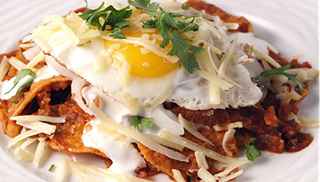 Chilaquiles With Salsa and Eggs