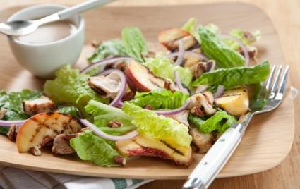 Grilled Chicken Salad with Peach-Pecan Vinaigrette