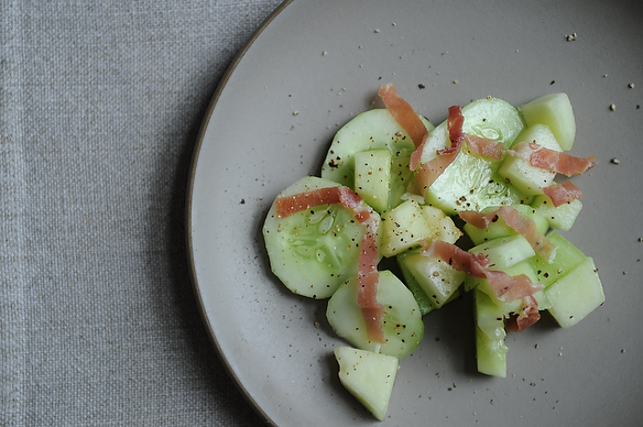 Quick-Pickled Cucumber-Melon Salad