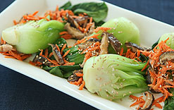 Bok Choy with Carrots and Sesame-Orange Dressing