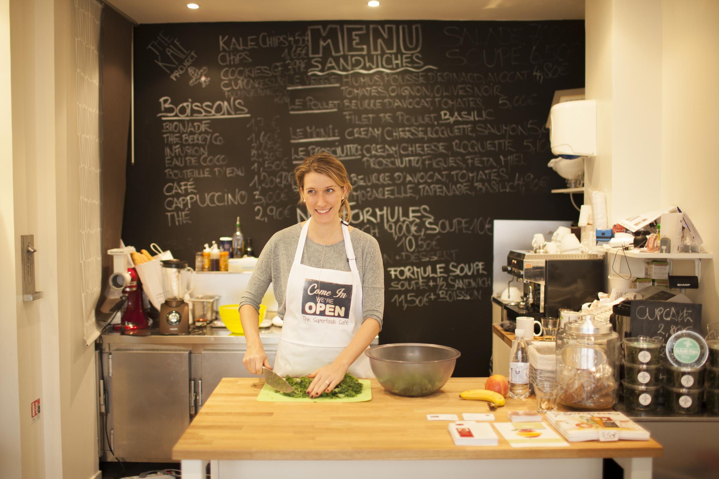 Kristen Beddard in kitchen
