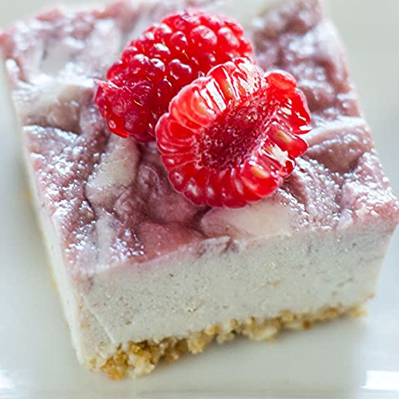 Raspberry Vegan Cheesecake Bites