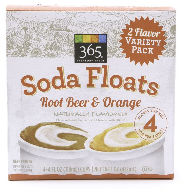 365 Everyday Value® Soda Floats. Root Beer and Orange
