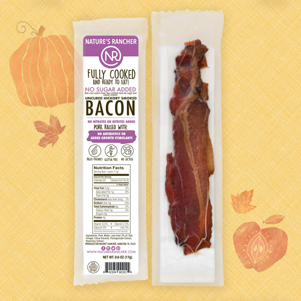 Nature's Rancher Fully Cooked Single-Serving Bacon