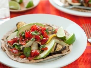 Grilled Veggie Tostadas with Fresh Salsa
