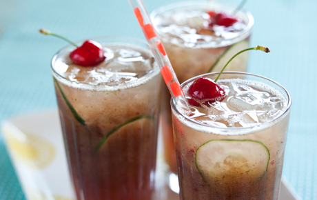 Cherry-Cucumber Coolers