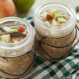 Apple Oatmeal in a Jar